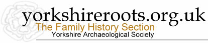 Yorkshire Archaeological Society Family History Section